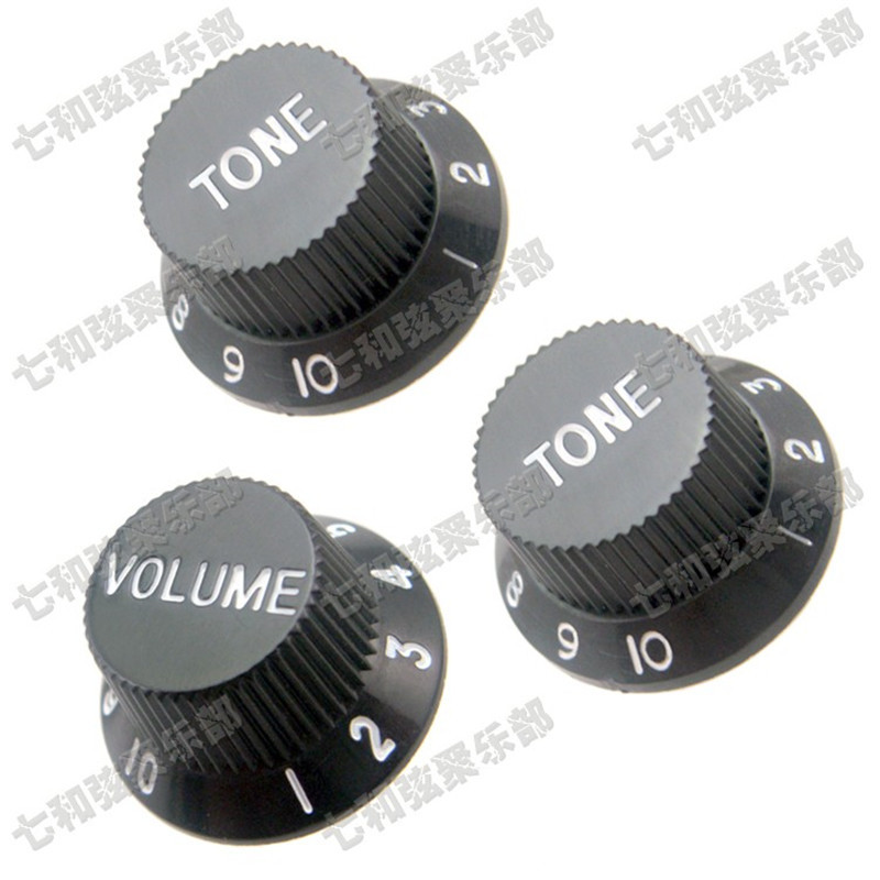 QHX A set 3 Pcs Black White Guitar Speed Control Knobs for Electric Guitar accessories parts Musical instrument