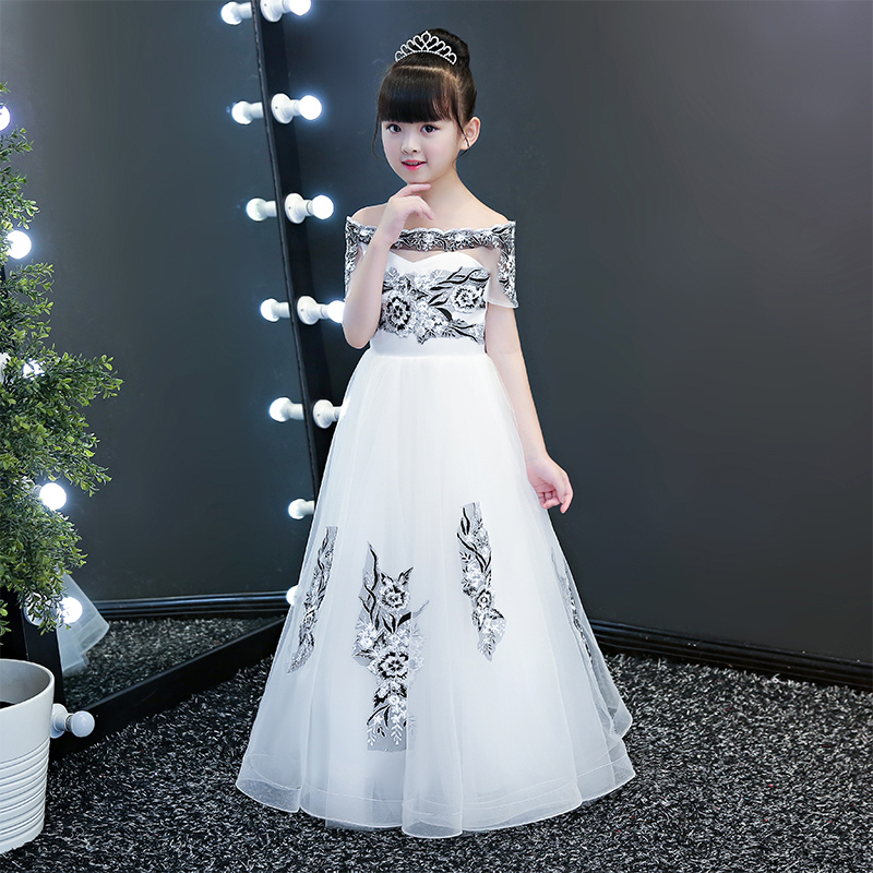 f3881746425 Detail Feedback Questions about 2019 new teenage girl dresses long formal  prom gown for kids girls clothing wedding party tutu dress christmas party  ...