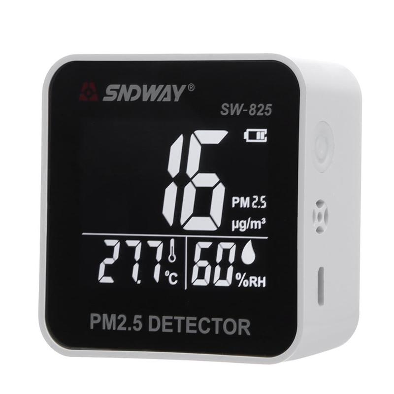 Digital Air Quality Monitor PM2.5 Detector Laser Particle Sensor Temperature Humidity Monitor Analyzer Meter new ht 9600 high sensitivity pm2 5 detector particle monitor professional dust air quality monitor handheld particle counter