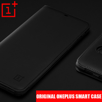 100 Original OnePlus 6 Case Flip Cover Smart Sleep Wake Flip Case Business Funda One Plus