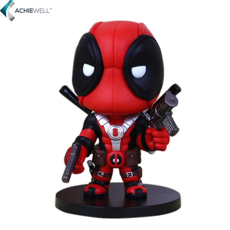 Amine Character Q Cute Version X-men Deadpool PVC Action Figure Fan Collectible Toy Gift For Children Desk Doll