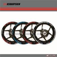 12 X Thick Edge Outer Rim Sticker Stripe Wheel Decals FIT BMW S1000RR 17