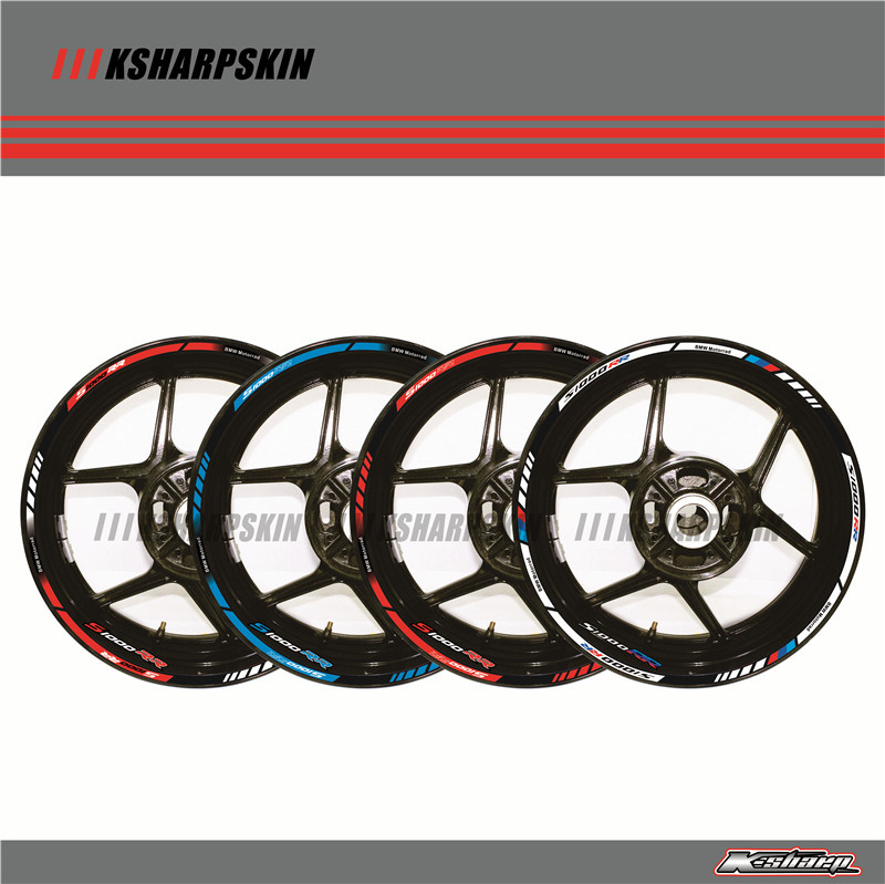 12 X Thick Edge Outer Rim Sticker Stripe Wheel Decals FIT  BMW S1000RR  17''-in Decals & Stickers from Automobiles & Motorcycles