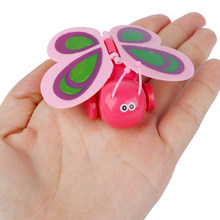 Wind-Up Toy Walking-Toys Kids Children Mini for Gift Color-Random Wings Funny Butterfly