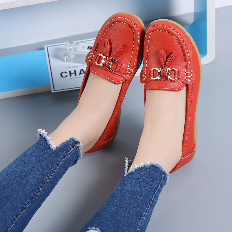 2018 Women Summer Shoes New Fashion Women Moccasins Flats Beach Fringe Flat Shoes Ladies Casual Shoes Female loafers CBT1021