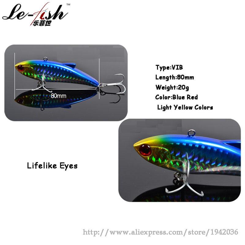 Le-Fish TSURINOYA VIB Balıqçılıq Lure Sərt Süni Yiyəsi 80mm / - Balıqçılıq - Fotoqrafiya 3