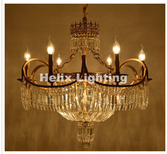 Free shipping antique chandelier bronze color d74cm crystal free shipping antique chandelier bronze color d74cm crystal chandelier lamp crystal lustre light fixture villa cristal aloadofball Images