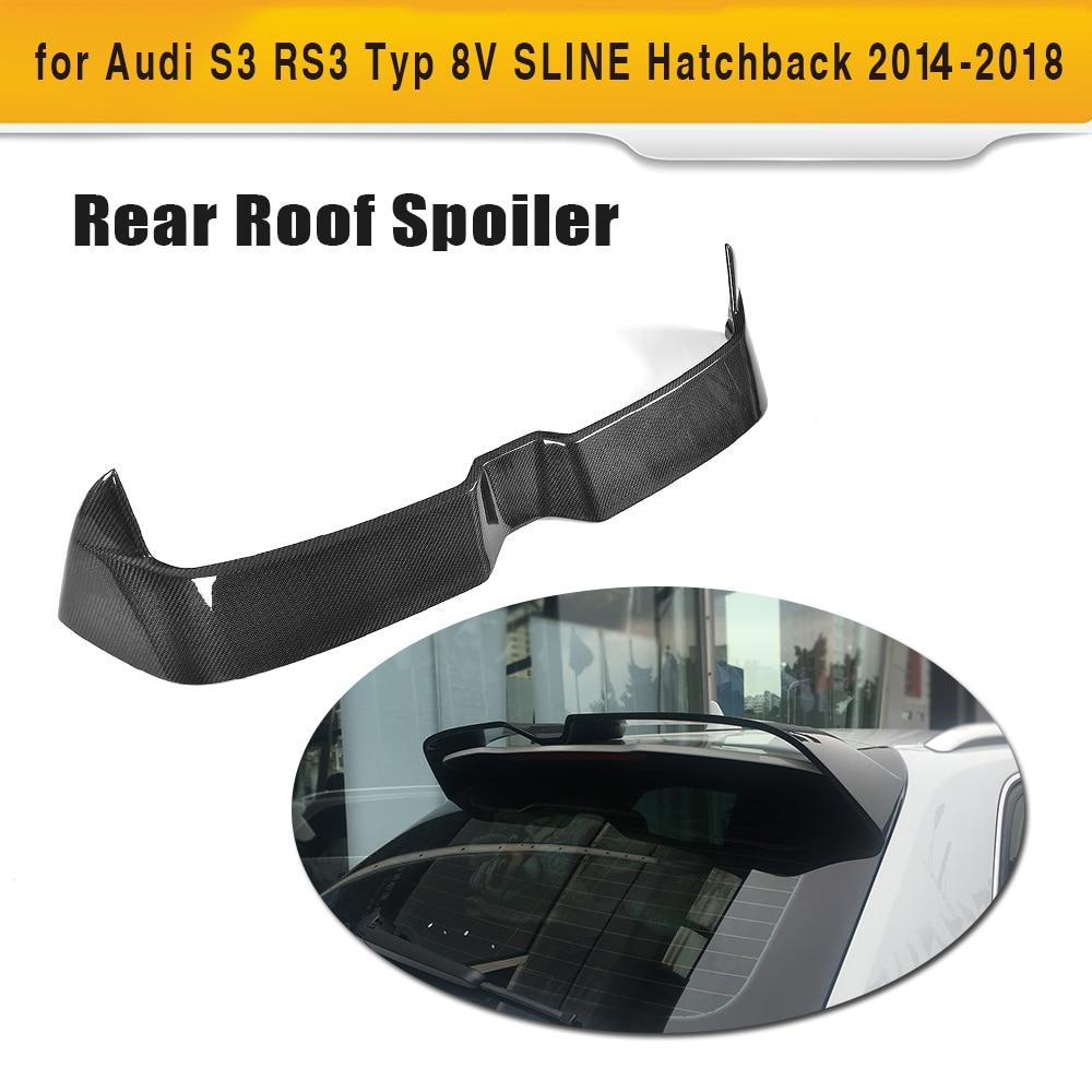 Carbon Fiber Car Rear Roof Spoiler Lip Wing for Audi S3 RS3 Typ 8V SLINE Hatchback 4 Door 14-18 Non 2Door ML style