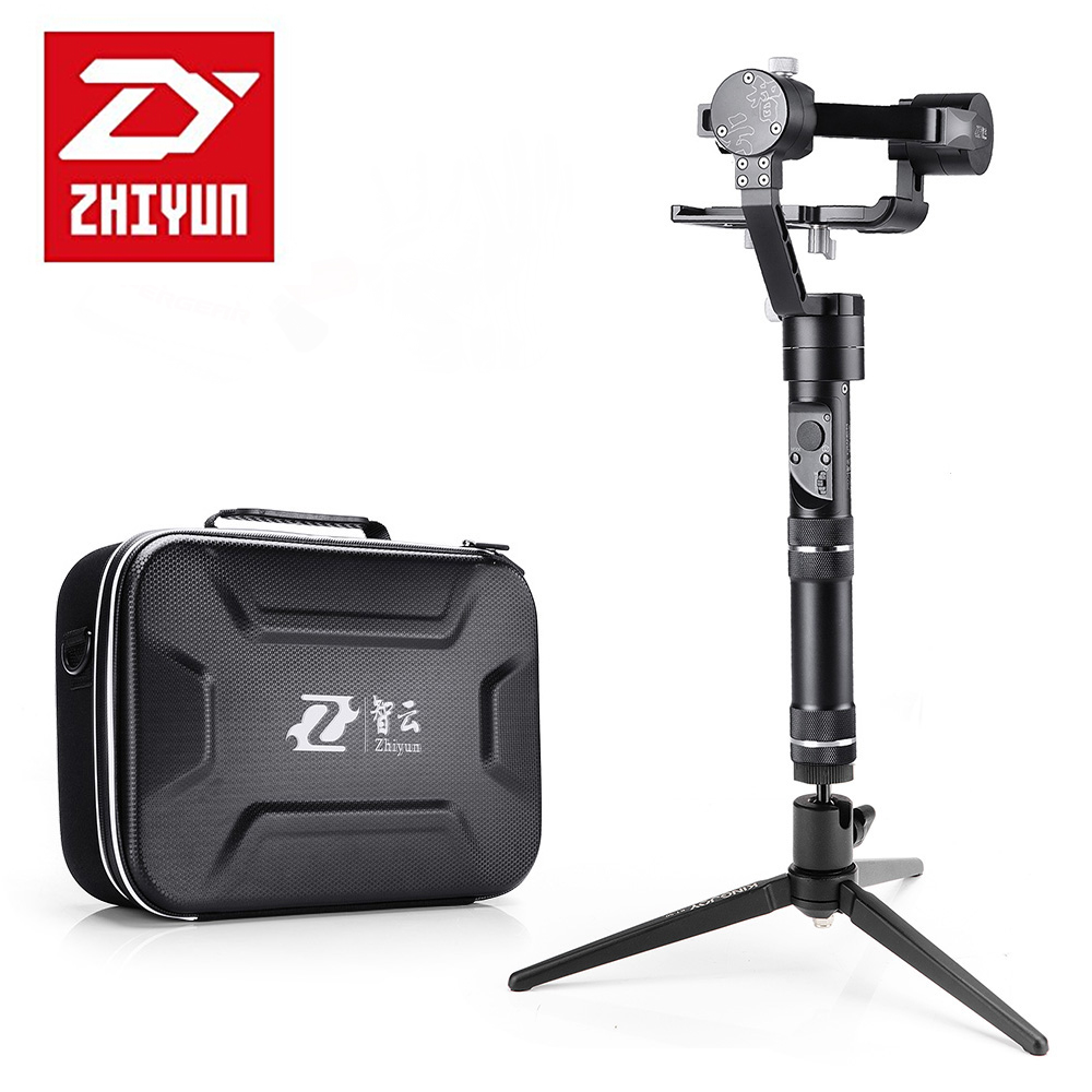 Zhiyun Crane M Crane-M 3-axis Brushless Handle Gimbal Stabilizer for Smartphone Mirroless DSLR Gopro 125g-650g+Tabletop Tripod