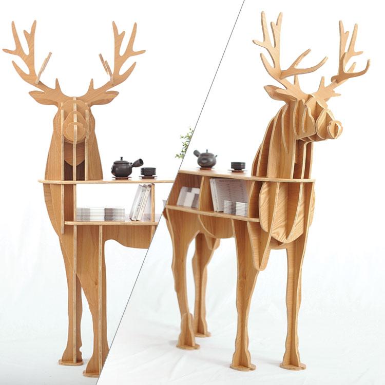 Fa szarvas otthoni dekorációs dohányzóasztal KING II. Önálló - Bútorok - Fénykép 3