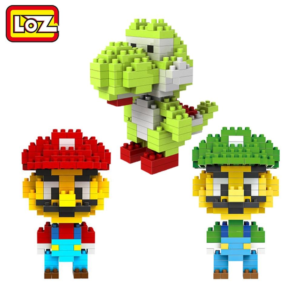 LOZ Super Mario Bros Yoshi Figura de Juguete Modelo Luigi Mario Juego - Juguetes de construcción