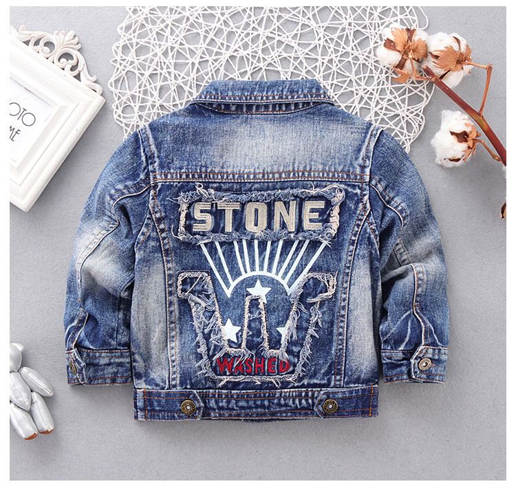 8a0c253e6 2018 Autumn Denim Little Boy Jackets Kids Spring Blue Boys Coat For ...