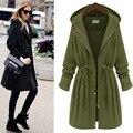 2016 trench coat for women coats winter feminino bayan mont abrigos mujer long coat casaco feminino manteau femme plus size