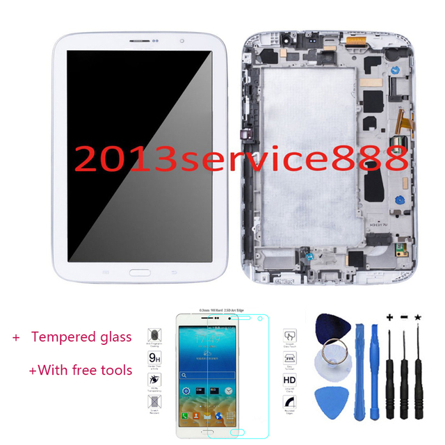 Oem display lcd touch screen digitador & frame para samsung galaxy note 8 n5110 wi-fi com ferramenta branco