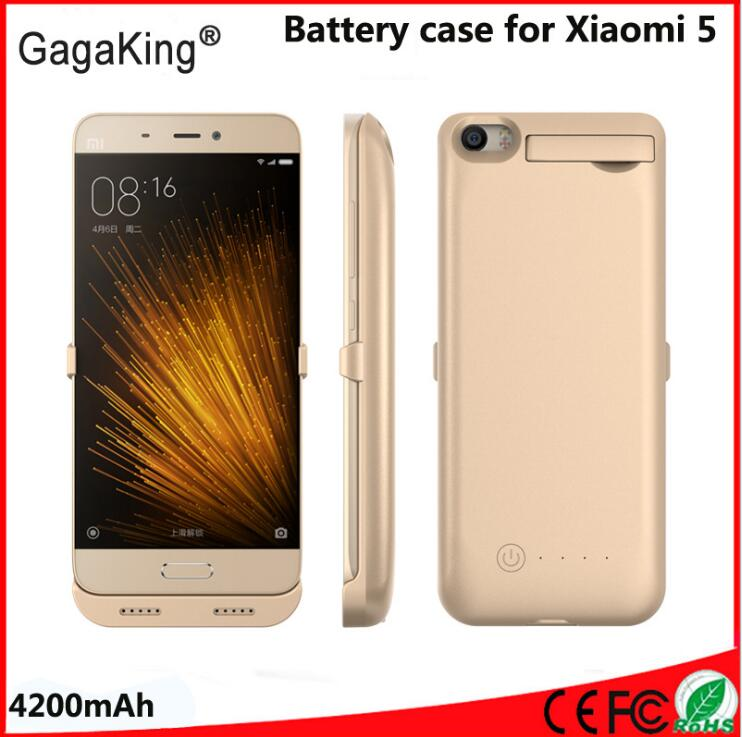 bilder für 4200 mah für xiaomi mi5 batterie fall mode externe backup mi5 power fall ladegerät cover pack für xiaomi mi5 batterie fall