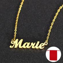 Custom Name Necklace,Personalized Name Necklace,Custom Necklace Gold,Custom Letter Necklace, Custom Nameplate Necklace Jewelry(China)