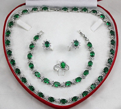 Nobility Exquisite Fancy jewelry choker Charming Crystal Ring Necklace Earrings Bracelet Jewelry Set Silver hookNobility Exquisite Fancy jewelry choker Charming Crystal Ring Necklace Earrings Bracelet Jewelry Set Silver hook