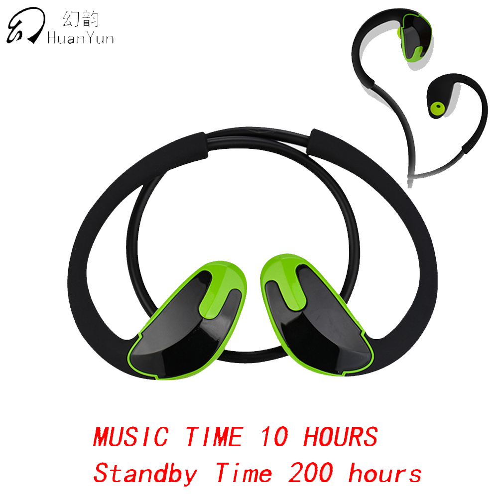 Huan Yun Bluetooth Earphone Wireless Bluetooth Headphone In Ear Sport IPX5 Waterproof Headset Stereo Bass with Mic For Phone askmeer bluetooth earphone ipx5 waterproof metal magnetic wireless sport earbuds headset in ear earpiece with mic handfree calls