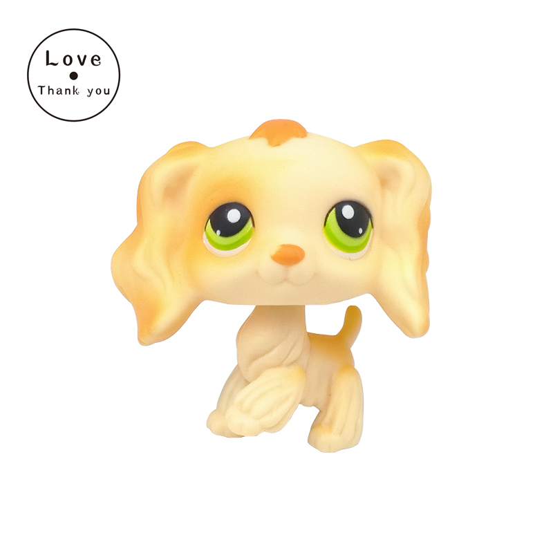 SPANIEL style Childrens Collection of figure lovely dog Rare LPS pet toy Kids gift Light yellow dog with green eyes #347 6207 full si3n4 ceramic deep groove ball bearing 35x72x17mm