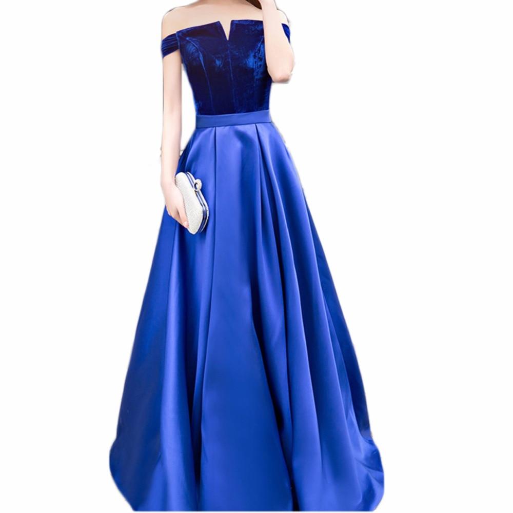 Us82 Schulter Rock A Kleid Elegante 0samt Der Top Kleider Satin Boot Lange Ausschnitt Von Linie Brautjungfernkleider Weg Abschlussball Hochzeit tQrCshdBx