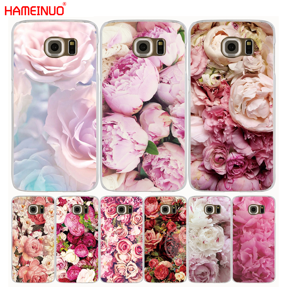 HAMEINUO Colorful Brilliant Rose Peony Flowers cell phone case cover for Samsung Galaxy S9 S7 edge PLUS S8 S6 S5 S4 S3 MINI image