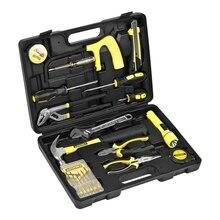 Набор ручного инструмента STAYER 22052-H15 (Количество предметов в наборе - 15 штук - отвертки, шарнирно-губцевый инструмент, гаечные ключи, слесарные инструменты)