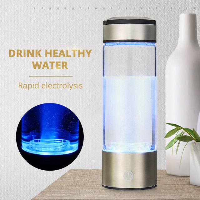 Healthy Anti-Aging Hydrogen Rich Water Bottle Generator 380ml USB Rechargeable Hydrogen Rich lonizer Alkaline Water Maker 3