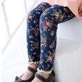 Sheecute nuevas muchachas de la llegada niños estampado de flores pantalones flacos de chinlren encuadre de cuerpo entero pantalones lápiz leggings para 3-7y niñas