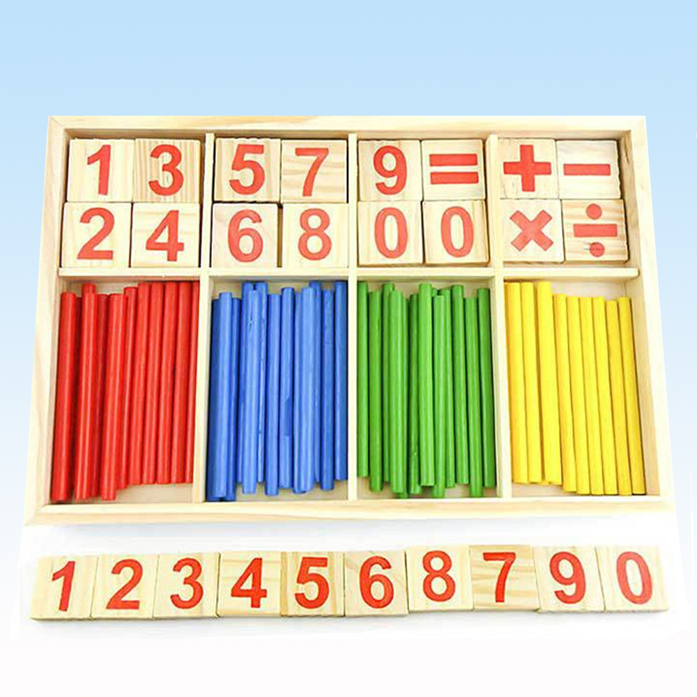Montessori Math Hundred Board 100 Grid Wooden Toys Counting Blocks Puzzles Wood Preschool Educational Toy for Kids Kindergarten First Grade Students Early Math Number Teaching Tool Homeschool Math Tool