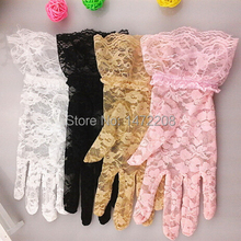 2016 Newest Women's Summer Sun Protection Lace Gloves Lady's Sexy Mittens Gloves Wholesales Price