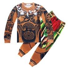 10c8567e03312 2019 enfants pyjamas ensembles bébé fille et garçons vêtements Pijamas bébé  garçons filles Vaiana manches longues