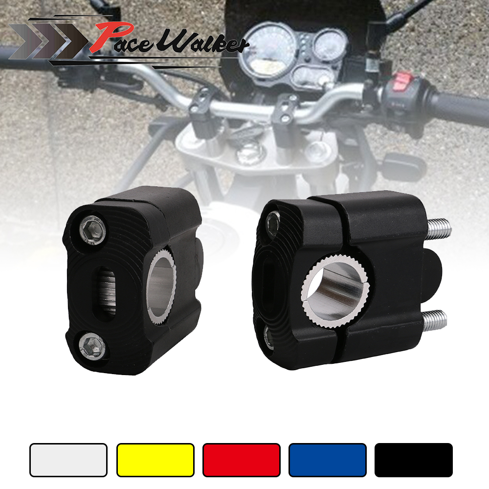 Universal 22mm 28mm Motorcycle Accessories CNC Bar Clamps Handlebar Risers For 7/8