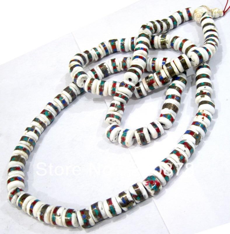 BRO630  Tibetan 108 beads old Conch shell Prayer Mala Necklace,12mm,Tibet Buddhist Tridacna beads,low MOQ,Free shipping