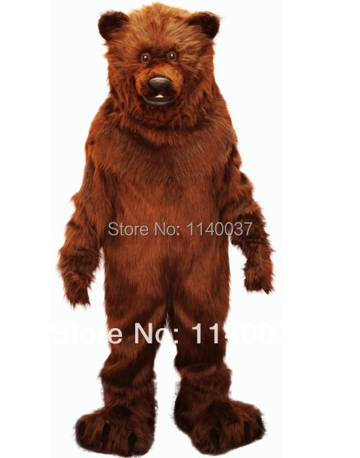 Mascota Gran Grizzly Bear traje de la mascota Tamaño adulto Vestido - Disfraces
