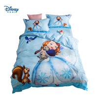 sofia princess bedding set twin size bed spread queen coverlet duvet cover for girl bedroom cotton 3d printing home textile blue