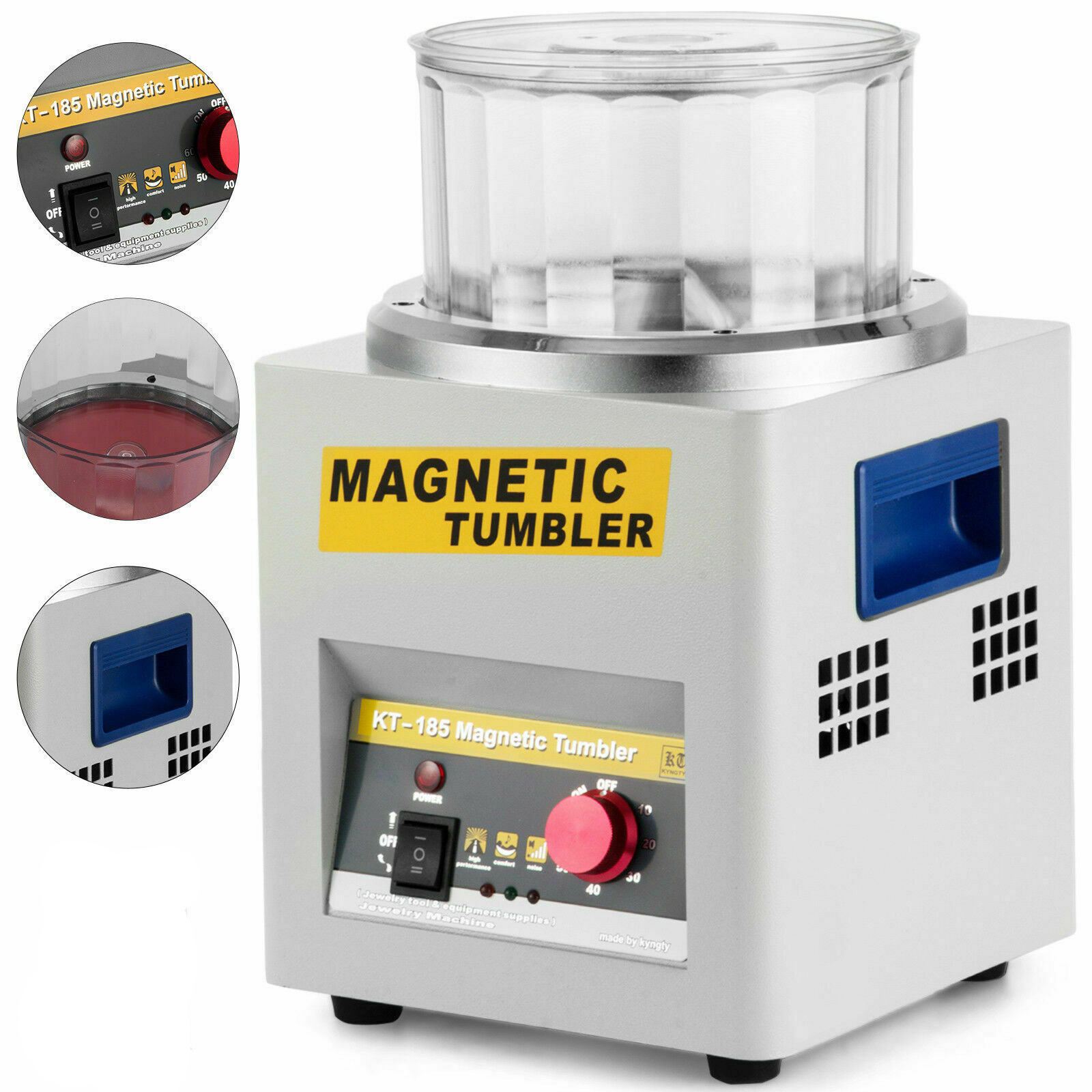 Manufacturer CE Magnetic Tumbler Jewelry Polisher Finisher Finishing Machine, Mini Magnetic Polishing Machine AC 110V/220V