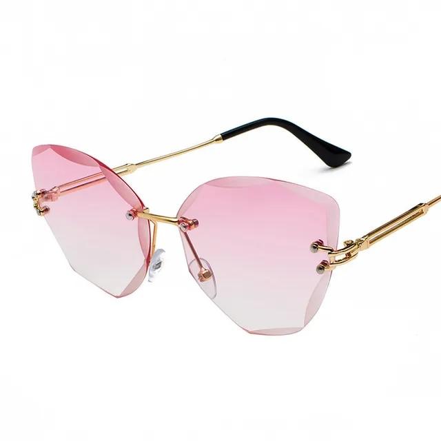 DESIGN Fashion Lady Sun glasses 2019 Rimless Women Sunglasses Vintage Alloy Frame Classic Brand Designer Shades Oculo