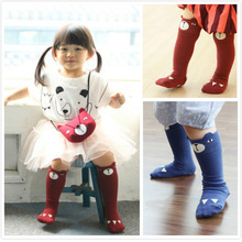 2015 Famous brand Harajuku meia antiderrapante baby kawaii casual dress bear chaussette enfants high quality fashion leggings
