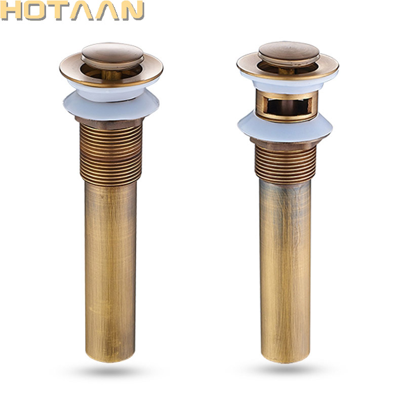 Free Shipping Antique Bathroom Brass Pop Up Sink Drain Brass Pop-up Drain basin waste YT-5193