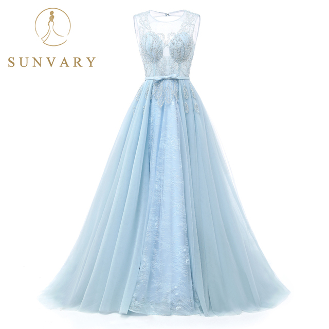 Sunvary Illusion Neckline Beaded Wedding Gown Cap Sleeve Embroidery ...