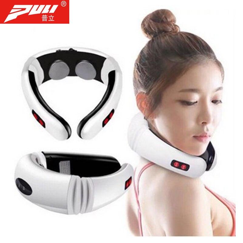 Masajeador de cuello de pulso eléctrico Cervical vértebra impulso masaje fisioterapéutico acupuntura magnética alivio del dolor herramienta
