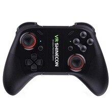 VR C08 Ergonômico Sem Fio Bluetooth joystick Gamepad Game Controller Remoto Recarregável Compatível Com Android/IOS