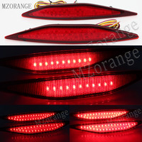 MZORANGE 2Pcs LED Red Lens Rear Bumper Reflector Brake Parking Lights Brake Stop Lamp For VW