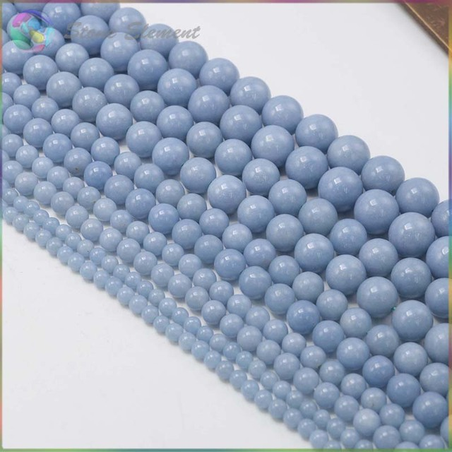 Charm Natural Semi Precious Stone Angelite / Anhydrite / Celestite Loose Round Beads 4mm,6mm,8mm,10mm,12mm