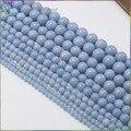 Charme Semi Naturais de Pedra Preciosa Angelite/Anidrita/Celestite Soltas Em Torno Beads 4mm, 6mm, 8mm, 10mm, 12mm