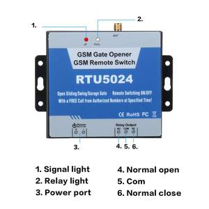 Image 3 - RTU5024 GSM Gate Opener Relay Switch Remote Control with Long Antenna Wireless Door Opener Free Call SMS 850/900/1800/1900MHz