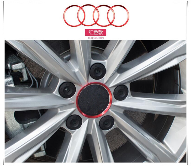 <font><b>Car</b></font> Styling Ring Wheel Hub Decoration Circle For <font><b>Peugeot</b></font> 2008 3008 4007 4008 5008 508 RXH <font><b>SW</b></font> Partner <font><b>308</b></font> 508 RCZ <font><b>Car</b></font> <font><b>Accessories</b></font> image
