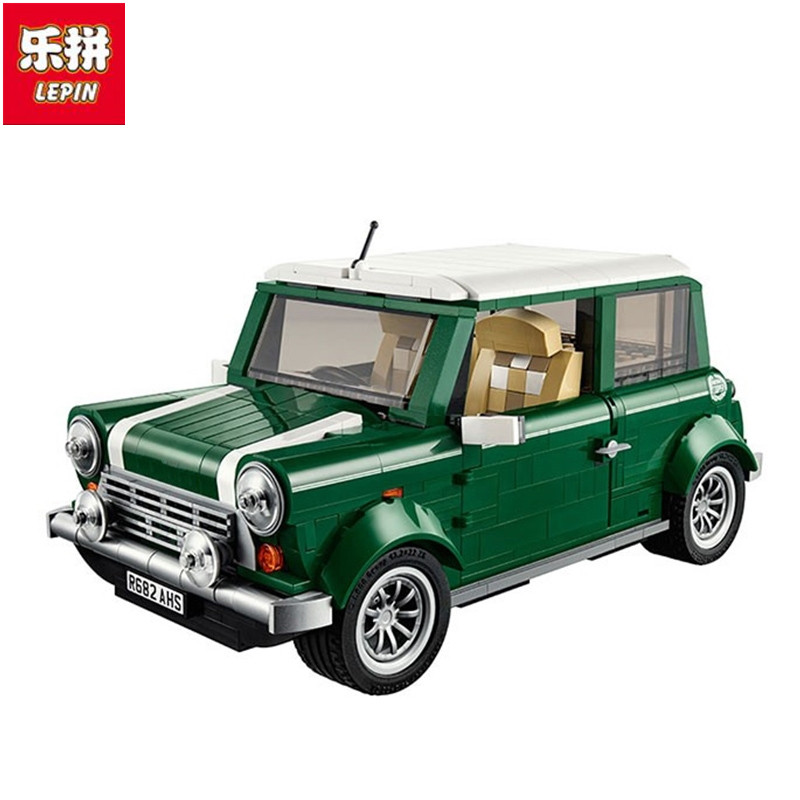 Lepin Free shipping  21002 technic series MINI Cooper Model Building Kits Blocks Bricks Toys Compatible free shipping lepin 2791pcs 16002 pirate ship metal beard s sea cow model building kits blocks bricks toys compatible with 70810