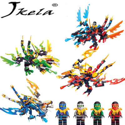 [Jkela] Ninjagoes Dragon Building Block Kai Jay Cole Zane Lloyd Wu Nya Garmadon Compatible With Legoingly Ninjagoes Dragon bela 911pcs ninjagoes epic dragon battle building block set jay zx chokun minifigures kids toy compatible with legoes 9450