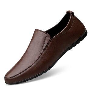 Image 1 - 2019 hommes hiver chaud en peluche en cuir robe de soirée chaussures respirant mâle mode mocassins noir marron affaires loisirs chaussures décontractées